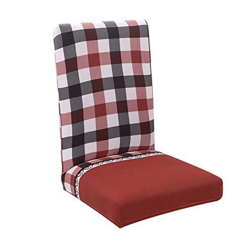 Shuda - Housse de chaise élastique lavable amovible pour salle à manger, mariage, banquet, décoration de fête - Avec des motifs imprimés 45-55cm #3