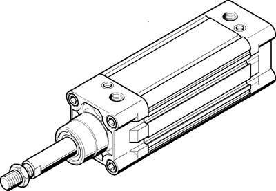 DNC-80-100-PPV-A (163437) Normzylinder Hub:100mm Kolben-Durchmesser:80 mm Einbaulage:beliebig