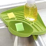 Esponja soporte, fregadero Caddy cocina cepillo jabón lavavajillas líquido escurridor rack de acero fregadero organizador bandeja para cocina