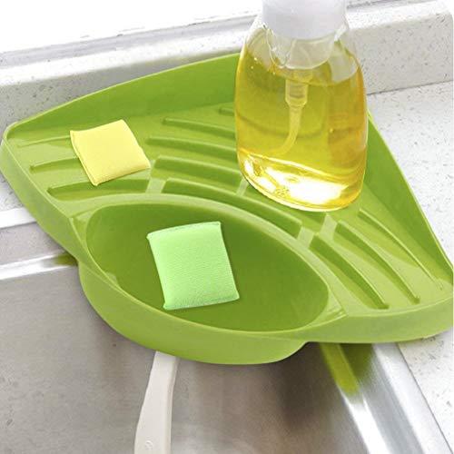 e Caddie Kitchen Brush Soap Geschirrspülmittel Drainer Rack Stahl Waschbecken Organizer Caddy Rack für Küche ()