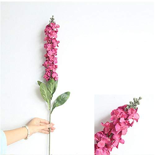 ume 90 cm Hyazinthe Violette Blumen Seide Künstliche Blumen Lange Blumendekoration Für Frühling Hause Hochzeit Hotel Decor Faux Gefälschte Blume-Rot ()
