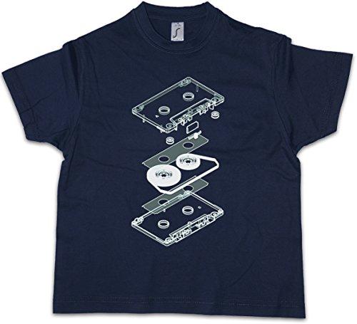 Urban Backwoods Explosion Audio Cassette Niños Chicos Kids T-Shirt 80s Kassette DJ MC Music VHS Tape Player
