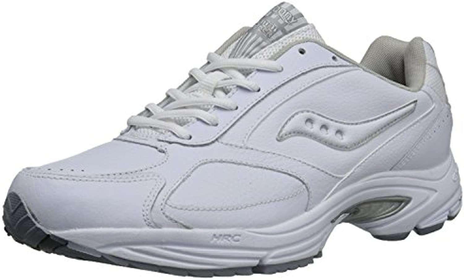 Saucony Men'S Grid Omni Walking Shoe, Blanco/Plateado, 46.5 2E EU/11 2E UK