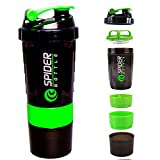 CP BIGBASKET 500 ml Protein Shaker Gym Bottle with 2 Storage Compartments