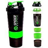 CP BIGBASKET 500 Ml Protein Shaker Gym Bottle With 2 Storage Compartments And 1 Pill Tray (Green)