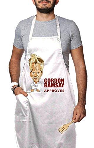 """Grembiule con pettorina e tasca: Tribute """"Gordon Ramsay Approved"""", chef, by tshirteria"""