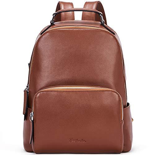 BOSTANTEN Damen Leder Rucksack 13 Zoll Laptoprucksack Vintage Reiserucksack Casual Backpack Daypacks Braun