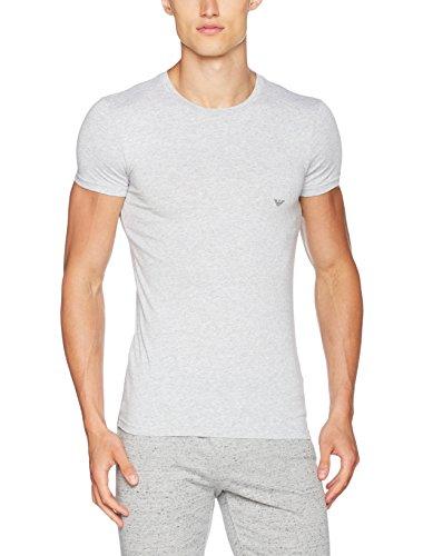Emporio Armani Underwear Herren Schlafanzugoberteil 111035CC729, Grau (Grigio Melange 00048), Medium