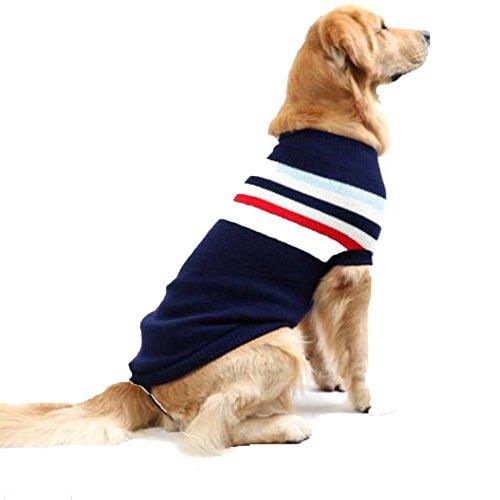 Cane caduta e abbigliamento invernale vestiti / maglione caldo / Poodle abbigliamento casual , deep blue , 80cm