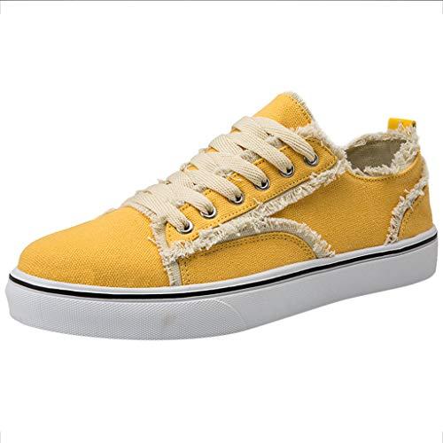 FiveFeedback Unisex Sneaker | Comodo Sport Scarpe per Uomo E Donna | Low Top Sneakers Tessile Scarpe Scarpe da Barca Unisex - Scarpe di Tela di Lino Scarpe da Uomo Scarpe Traspiranti Selvagge