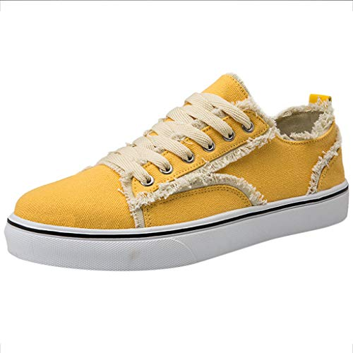 SANFASHION Unisex Sneaker Herren Hollow Mesh Atmungsaktive rutschfeste Espadrilles Turnschuh Textil Schuhe -