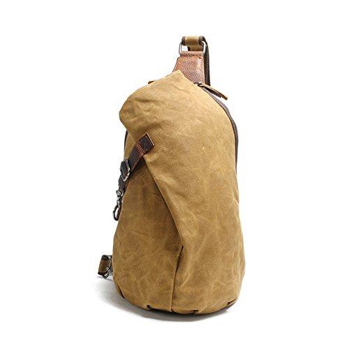 Gendi Dreieck Brusttasche Schule Gym Radfahren Sling Bag Pack Ungleichgewicht Rucksack Khaki