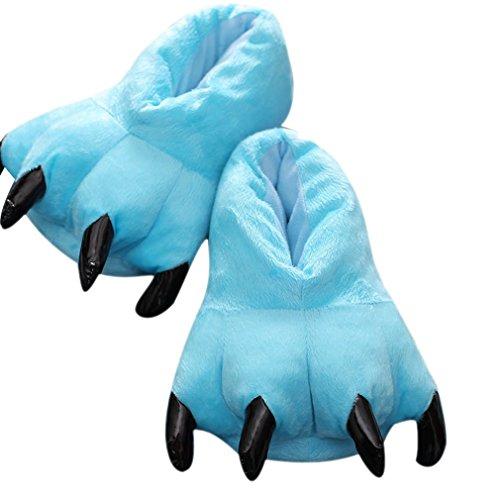 ACVIP Adulte Unisexe Chaussures Patte Motif Animaux Costume Cosplay Halloween Soirée de Déguisement,7 Couleurs,Taille M-L Bleu