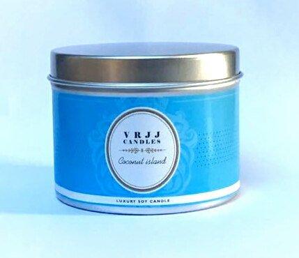 VRJJ Candele® Isola Cocco profumata candela di cera di soia