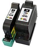 TONER EXPERTE 2er Set Druckerpatronen kompatibel für HP 15 78 C6615DE C6578AE PSC 2120 700 720 750 760 900 950 Officejet 5110 V30 V40 V45 Deskjet 3810 3820 815c 916c 920c 940c 948c | hohe Kapazität