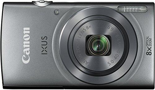 Canon IXUS 160 Digitalkamera (20 MP, 8-fach optisch, Zoom, 16-fach ZoomPlus, 6,8cm (2,7 Zoll) LCD-Display, HD-Movie 720p) silber -