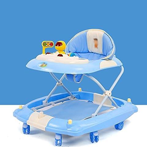 Baby-Wanderer Baby-Wanderer 6-18 Monate Baby-Anti-Rollover Vier-Gang-Einstellung Multifunktionaler Musik-Walker U-faltbarer Walker