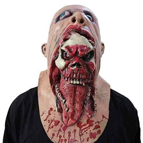 Sen-Sen Scary Bloody Zombie Mask Melting Face Kostüm für Erwachsene Walking Dead für Halloween (Awesome Kostüm Für Erwachsene)