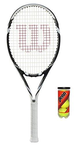 Wilson Six Two BLX-Raqueta tenis + 3Pelotas