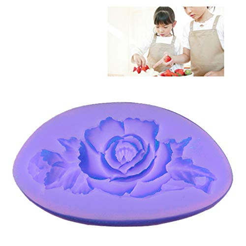 Mold For - 3d Rose Flower Silicone Mold Bakeware Moulds Baking Diy Soap Mould - Tarts Cream Shower Bunuelos Grillz Budda Chocolate Jellow Cookie Kinetic Toast Pregnant Artistic Balls Hand Square Chocolate Mold