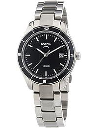 Boccia  B3225-03 - Reloj de cuarzo para mujer, con correa de titanio, color plateado