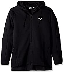 PUMA Mens Evo Core Full Zip Hoodie, Puma Black, Small