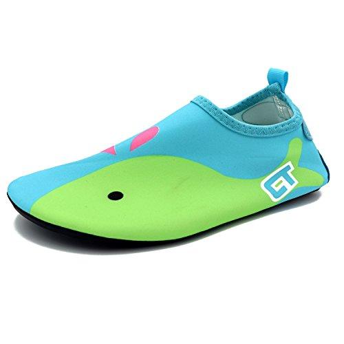 Easondea Kinder Wasserschuhe Kinderbadeschuhe Kinder Barefoot Aqua Socken Strand Pool Surfen Yoga-Schuhe für Jungen Mädchen Schnell trocknend Schnorcheln Meer Sportschuhe Unisex Surfschuhe Badeschuhe