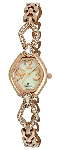 Maxima Swarovski Analog Mother of Pearl Dial Women's Watch - 32260BMLR image