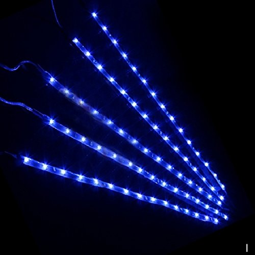 Leeko auto tuning led streifen 5 x 30cm mit 15 LED Birnen,2 Weiss und Blau zwei Farben erhältlich. (Blau)