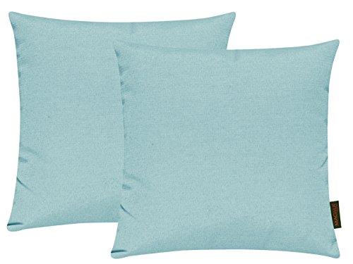 Fino Federa 40x 40cm circa prezioso e resistente in 30colorati Colori (Set di 2), Cotone, 025 Himmelblau, 40 x 40 cm