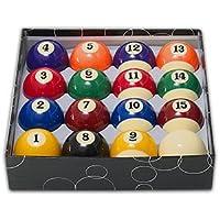 Juego bolas económicas numeradas 50. 8mm blanca 47. 6mm