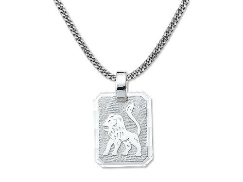 Sternzeichenmedaillon ausSilberLÖWE * passende Kette und Echtheitszertifikat inklusive (Kostüm Verkleiden Löwe)