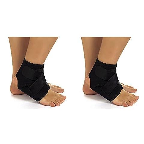 2 Soutien Brace Garde pieds X néoprène cheville Pochette de (Stecca Di Sostegno Del Gancio)