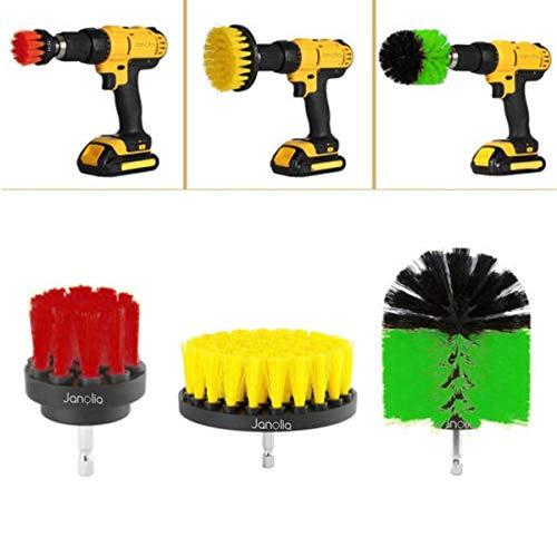 Janolia Bürstenkopf, 3 Stück für Waschtisch, Reinigungswerkzeug für Fliesen, Bürstenkopf für Elektrische Bohrmaschine