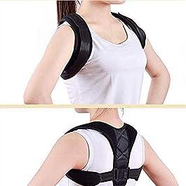 Correttore di posizione per uomini e donne – Supporto per la parte superiore della schiena per supporto per clavicola, piastra per schiena, sollievo dal dolore per spalle e spalle