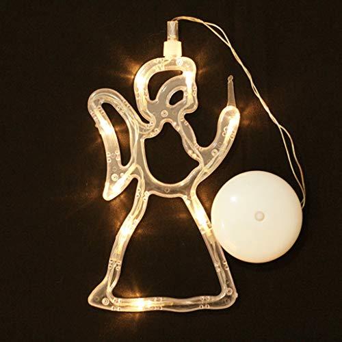 Tvvudwxx Christbaumschmuck Weihnachten Anhänger LED Lichter Festival Hochzeit Haus Dekoration Engel Weihnachtsbaum Elk Schneemann LED Lichter