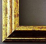 Artecentro Cornice Dorata per Quadri - Oro/Colore con o Senza passepartout in Legno-Varie Misure (Oro, 50x70)