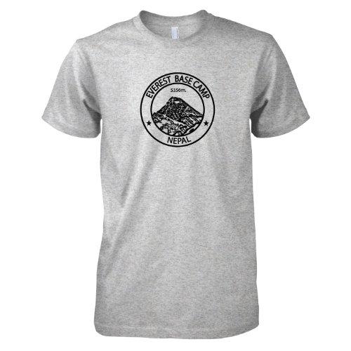 TEXLAB - Everest Base Camp Nepal - Herren T-Shirt Graumeliert