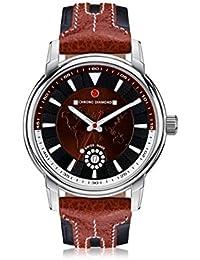Chrono Diamond 82070_braun-43 mm - Reloj , correa de cuero color marrón