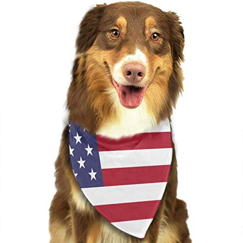 Rghkjlp Dogs Bandana Collars American Flag Pets Triangle Neckerchief Puppy Bibs Scarfs Cats Scarfs Towel -