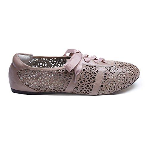 Cocorose London Stratford Dusky Pink Laser Cut-Pink-UK_5 (Frauen Schuhe Flache Beschränkt)