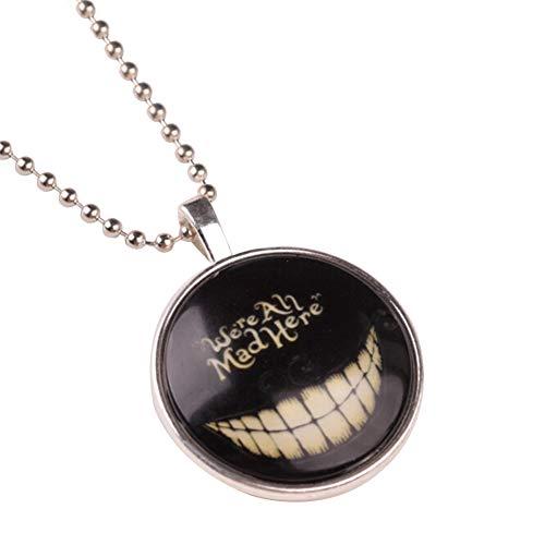 Bangle009 Unisex-Halskette, leuchtet im Dunkeln, Punk-Zähne, Halloween-Kette, leuchtender Schmuck Schwarz (Einfache Halloween Im Innenbereich Dekorationen)