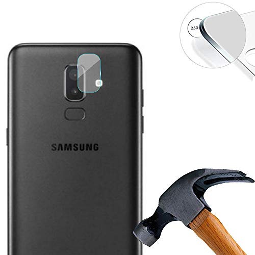 Lusee 2 x Pack Protector de Lente Cámara para Samsung Galaxy J6 Plus 6.0 Pulgada Cámara Trasera Pantalla Cristal Vidrio Templado