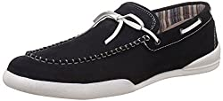 United Colors of Benetton Mens Black901 Leather Boat Shoes - 9 UK/India (43 EU)