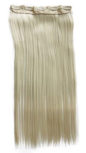 PRETTYSHOP(B:55cm x L:25 cm & 120g)Clip In Extensions Haarverlängerung Glatt Diverse Farben (hell blond (Farbton 88/613))