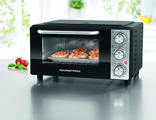 CLEANmaxx 04015 Mini Oven and Grill | 13 Litre | 1000 Watts | Incl. Wire Rack