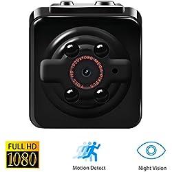1080P Mini Cam Surveillance Kamera Vaxiuja Full HD Tragbare Kleine Nanny Cam mit Nachtsichtgerät für Zuhause / Büro / Garten / Garage / Indoor / Outdoor Sicherheit Kamera