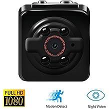 Mini cámara, Vaxiuja mini Cam espía HD 12MP 1080PQ Full HD,mini cámara ip, cámara de movimiento con detección de movimiento y visión nocturna infrarroja