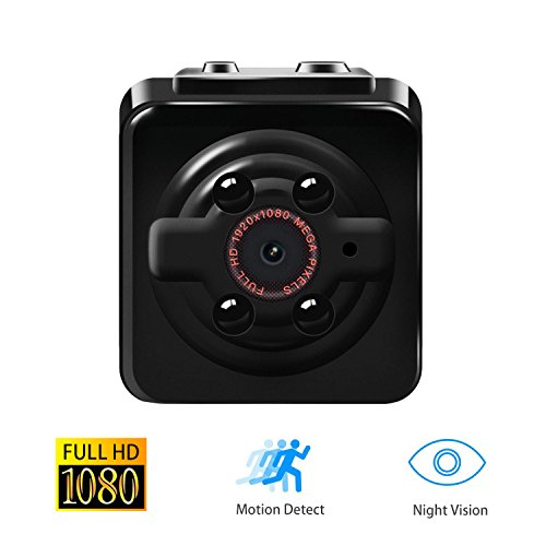 1080P Mini Cam Surveillance Kamera Vaxiuja Full HD Tragbare Kleine Nanny Cam mit Nachtsichtgerät für Zuhause / Büro / Garten / Garage / Indoor / Outdoor Sicherheit Kamera (Spy Security-kameras)