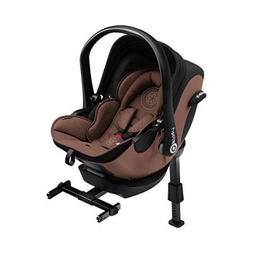 Preisvergleich Produktbild Kiddy 41940EL039 Babyschale Evoluna i-Size inkl. Isofix Base 2 Autoschale Nougat Brown